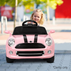 Mini Cooper Inspired Pink 12v Ride-On Kids Car