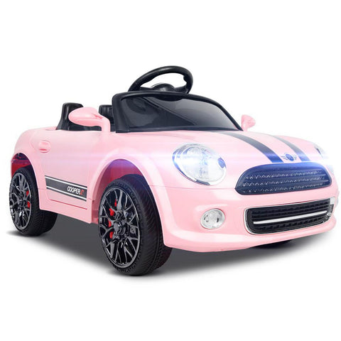 Mini Cooper Inspired Pink 12v Ride-On Kids Car - Kids Car Sales