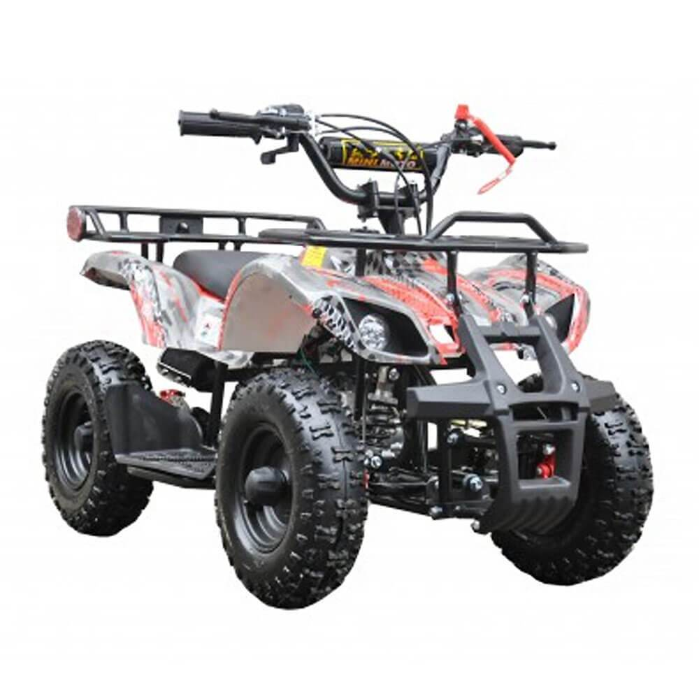 Motoworks Red Motoworks 49cc Petrol Powered 2-Stroke Farm Kids Quad Bike MOT-49ATV-FA-RED