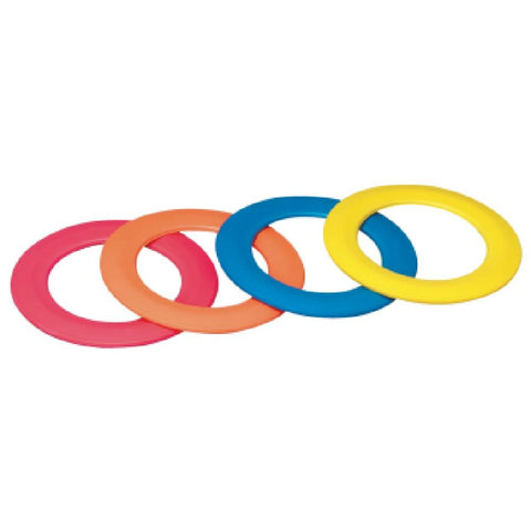 Multicolour Foam Juggling Rings - Pack of 4