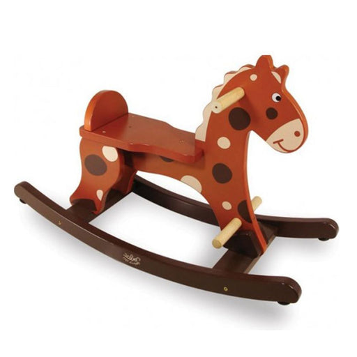 My First Brown Rocking Horse + Removable Hoop - Kids Car Sales