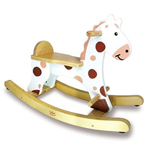 My First White Rocking Horse + Removable Hoop - Kids Car Sales
