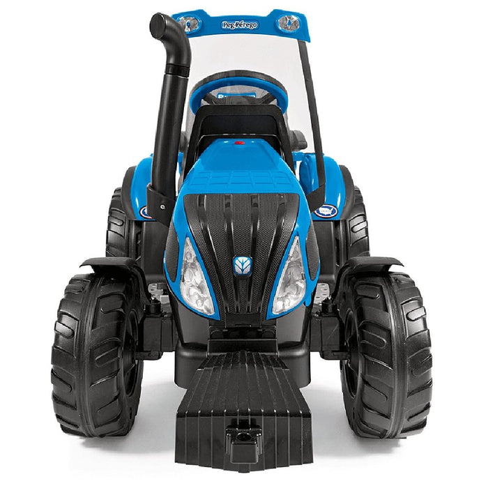 New Holland T8 Blue 12v Kids Ride On Tractor & Trailer - Kids Car Sales