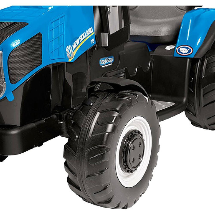 New Holland New Holland T8 Blue 12v Kids Ride On Tractor & Trailer 13910