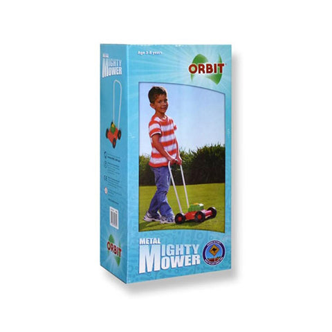 Orbit Push Along Mighty Mower with Durable Steel Body & Sounds - Kids Car Sales
