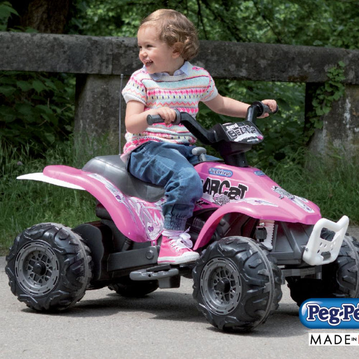 Peg Perego Corral Bearcat Pink 6v Ride-On Kids Quad Bike - Kids Car Sales