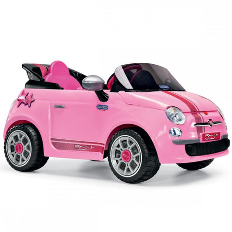 Peg Perego Fiat 500 Star Pink 6v Ride-On Kids Car