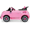 Image of Peg Perego Fiat 500 Star Pink 6v Ride-On Kids Car