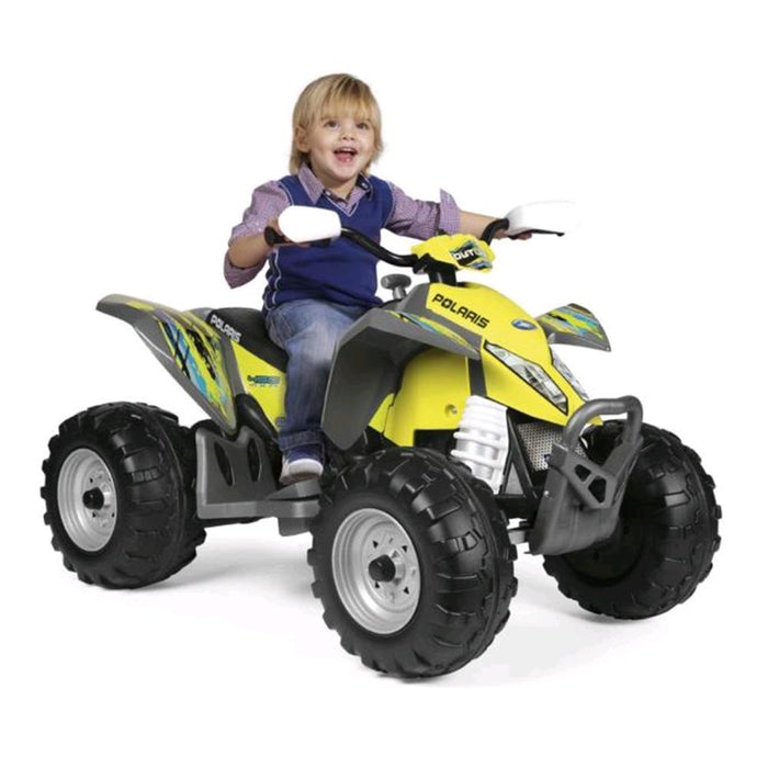 Peg Perego Polaris Outlaw Citrus 12v Kids Ride-On Quad Bike