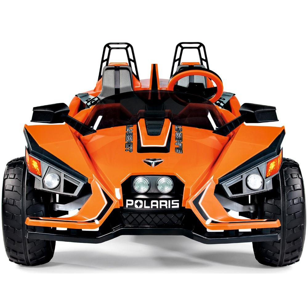 Peg Perego Polaris Slingshot Orange 12v Two Seat Ride-On Kids Car - Kids Car Sales