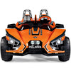 Image of Peg Perego Polaris Slingshot Orange 12v Two Seat Ride-On Kids Car - Kids Car Sales