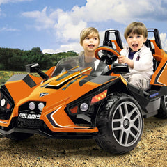 Peg Perego Polaris Slingshot Orange 12v Two Seat Ride-On Kids Car