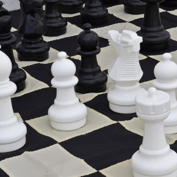 Plastic 30cm Giant Premium Chess, Checkers and Mat Package