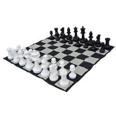 Plastic 40cm Giant Premium Chess, Checkers and Mat Package