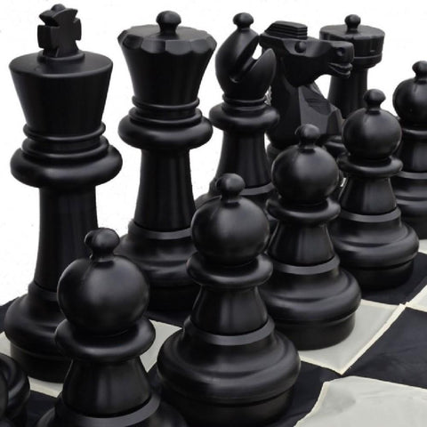 Plastic 60cm Giant Premium Chess, Checkers and Mat Package