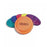 Plastic Frisbees Multi Coloured Flying Discs - Pack of 6