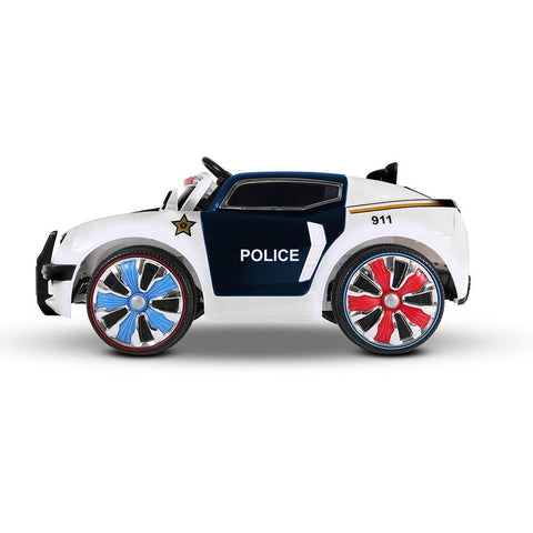 Police Patrol Black & White 12v Ride-On Kids Car