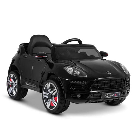 Porsche Macan Inspired Black 12v Ride-On Kids Car