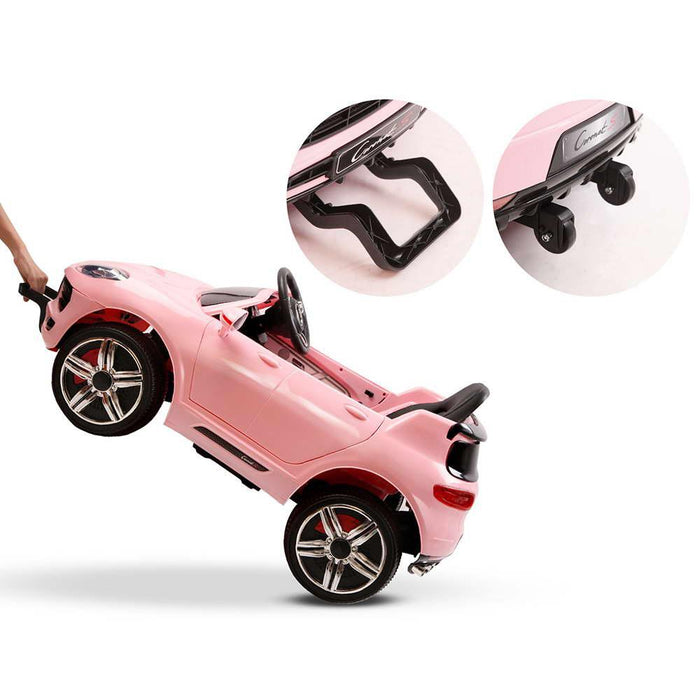 Porsche Macan Inspired Pink 12v Ride-on Kids Car