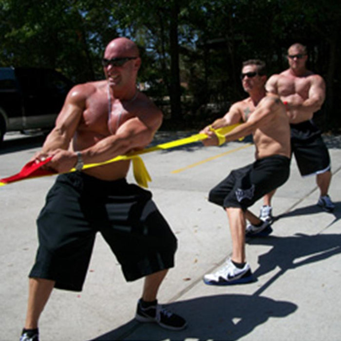 PowerPull Tug of War Rope Team Game with Pull Loops (20-40 Players)