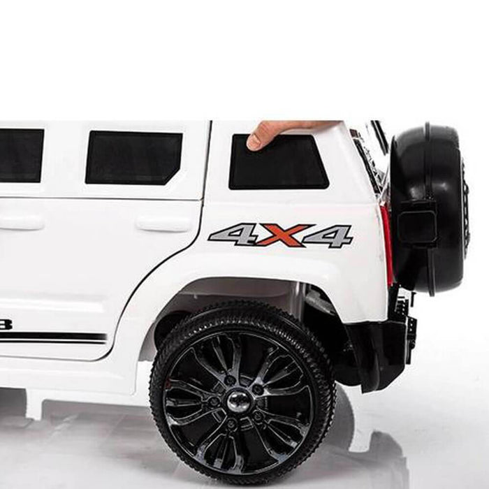 Kids Car Sales Hummer Style 6v Kids Ride-On Car w/ Remote - White (ASSEMBLED) BJ1658-WHI-ASB