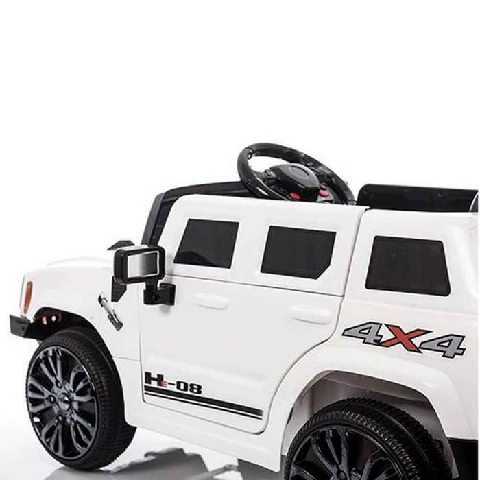 Hummer Style 6v Kids Ride-On Car w/ Remote - White - Kids Car Sales