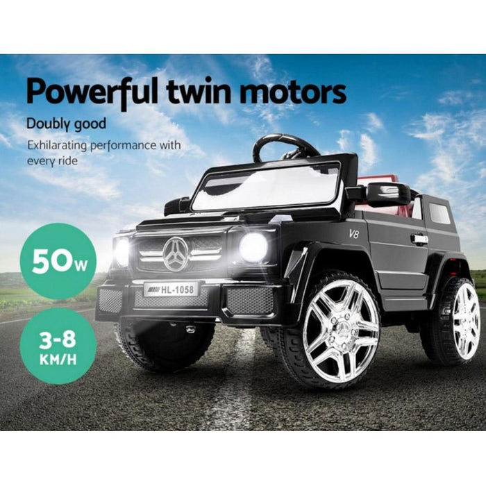 Mercedes Benz AMG G50 Inspired Black 12v Ride-On Kids Car - Kids Car Sales
