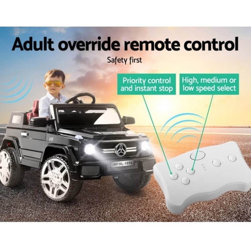Unbranded Mercedes Benz AMG G50 Inspired Black 12v Ride-On Kids Car RCAR-AMG50-BK