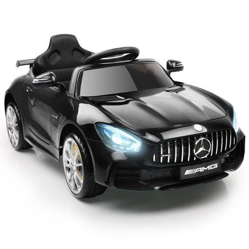 Unbranded Mercedes-AMG GT R Licensed 12v Kid's Ride-On Car – Black DSZ-RCAR-AMGGTR-BK