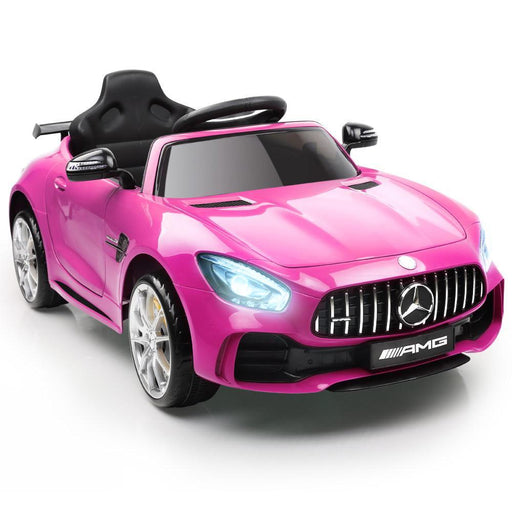 Unbranded Mercedes-AMG GT R Licensed 12v Kid's Ride-On Car – Pink DSZ-RCAR-AMGGTR-PK