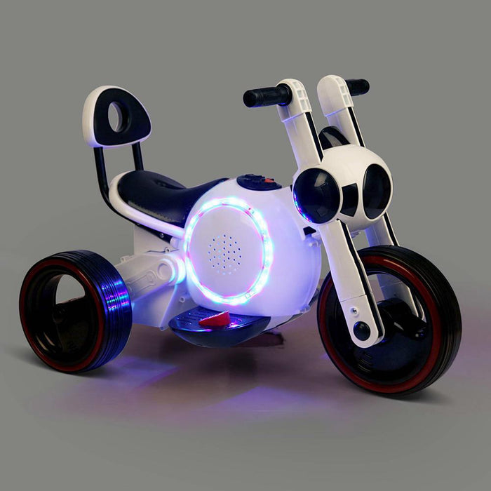 Baymax Inspired Kids 6v Ride On Motorbike - White - Kids Car Sales
