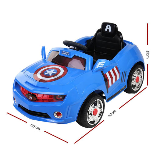 Captain America Marvel 6v Electric Ride On Car Kids Car - Kids Car Sales
