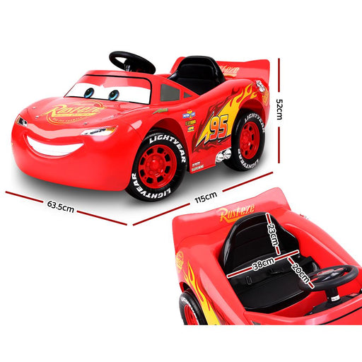 Lightning McQueen Disney Licensed 6v Kids Ride On Electric Car - Kids Car Sales
