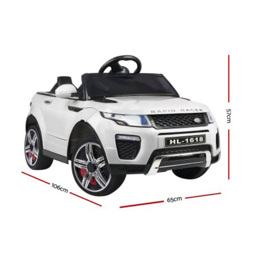 Unbranded Range Rover Evoque Inspired White 12v Ride-On Kids Car RCAR-EVOQUE-WH