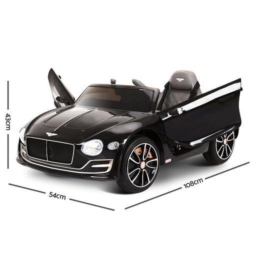 Bentley EXP12 Licensed  Kid's Ride-On Car - Black - Kids Car Sales
