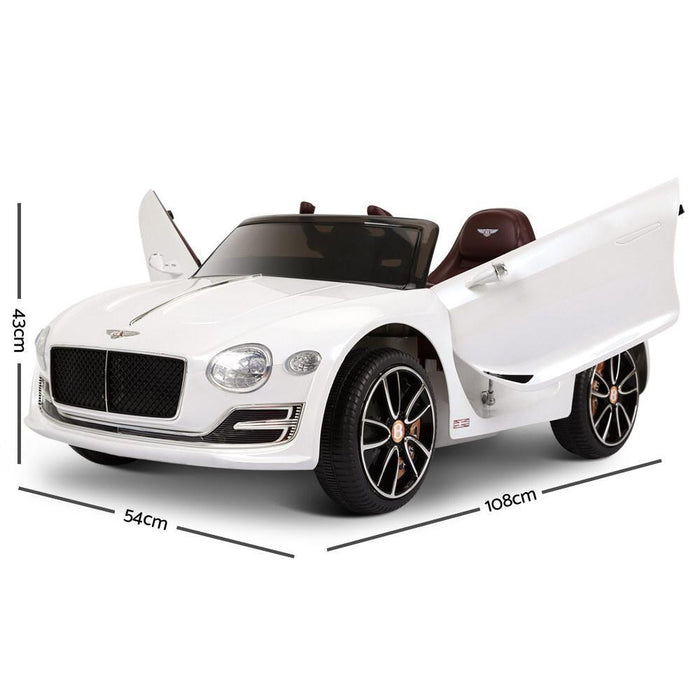 Bentley Style XP12 White Inspired 12v Kids Ride-On Car - Kids Car Sales