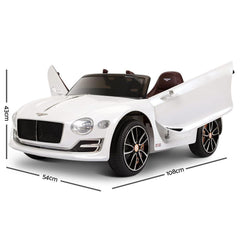 Bentley Style XP12 White Inspired 12v Kids Ride-On Car