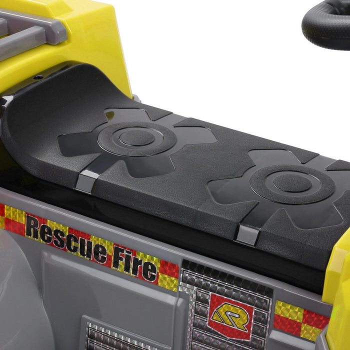Yellow Fire Truck Rescue 6V Ride-on Kids Car