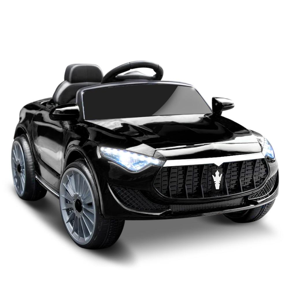 Unbranded Maserati Inspired 12v Kids Ride On Car - Black DSZ-RCAR-MASRT-S-BK