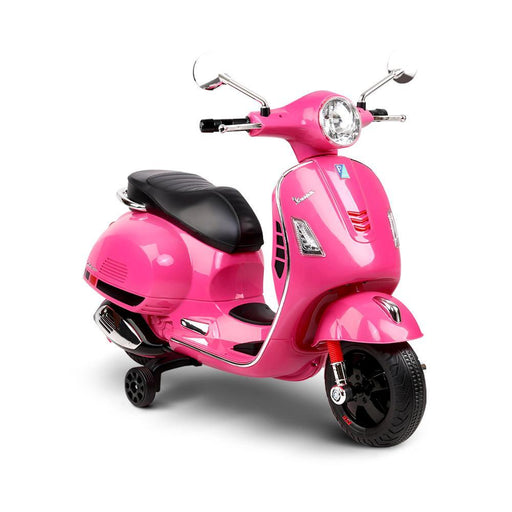Kids Ride On 6v Vespa Scooter with Balance Wheels - Pink - Kids Car Sales