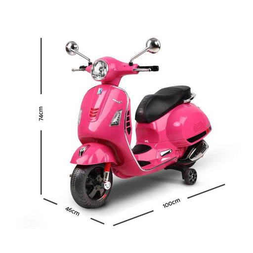 Unbranded Kids Ride On 6v Vespa Scooter with Balance Wheels - Pink DSZ-RCAR-VESPA-GTS-PK