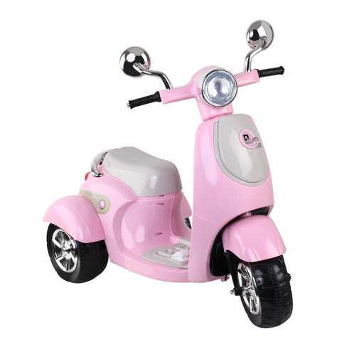 Kids Ride On 6v Vespa Scooter with Balance Wheels - Princess Pink - Kids Car Sales