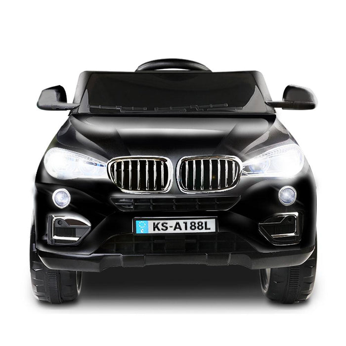 BMW X5 Inspired 12v Kids Ride On Car - Black - Kids Car Sales