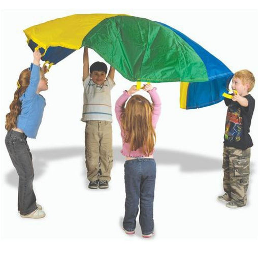 Rainbow Colour Play Parachute With Handles - Various Sizes