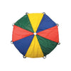 Image of Rainbow Colour Play Parachute With Handles - Various Sizes