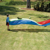Image of Rainbow Colour Ripple Wave Play Parachute, 4.3m Long
