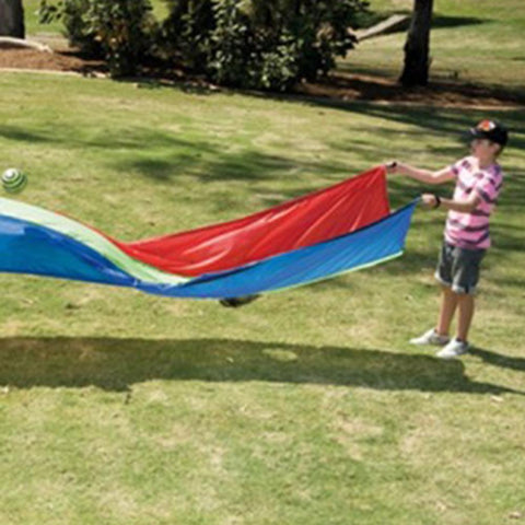 Rainbow Colour Ripple Wave Play Parachute, 4.3m Long