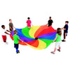 Image of Rainbow Colour Swirl Play Parachute With Handles - Various Sizes