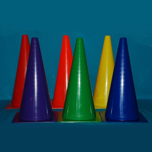 Rainbow Coloured Marker Cones 45cm High - Pack of 6 - Kids Car Sales