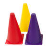 Image of Rainbow Coloured Marker Cones 45cm High - Pack of 6